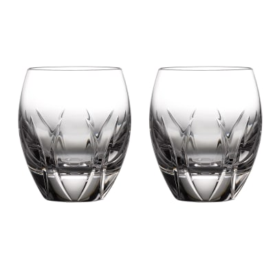 "Waterford Crystal ""Ardan Tonn"" Set of 2 Double Old-Fashioned Glasses"