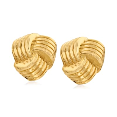Italian 18kt Gold Over Sterling Love Knot Earrings