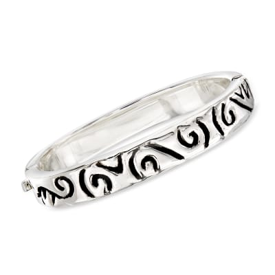 Zina Sterling Silver Swirl Slip-On Bangle Bracelet