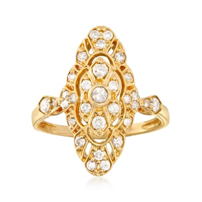 .50 ct. t.w. Diamond Openwork Ring in 14kt Yellow Gold