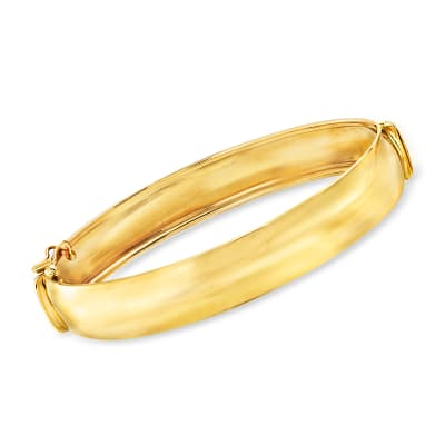 Italian 14kt Yellow Gold Bangle Bracelet