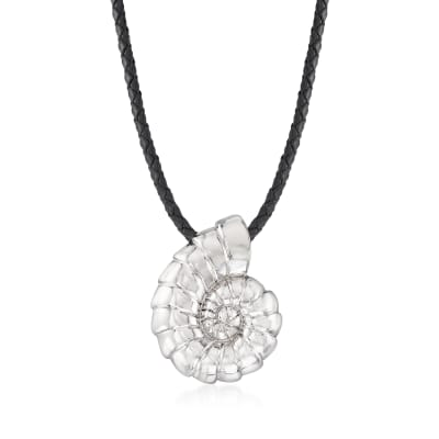 Italian Sterling Silver Seashell Necklace