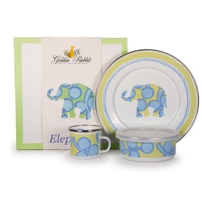 "Golden Rabbit ""Elephant"" 3-pc. Child's Dinnerware Gift Set"