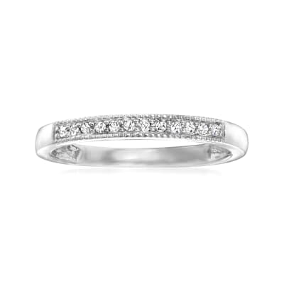 Diamond-Accented Ring in 14kt White Gold