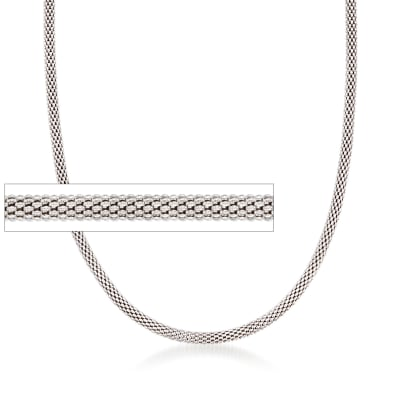Italian 2.8mm Sterling Silver Popcorn Chain