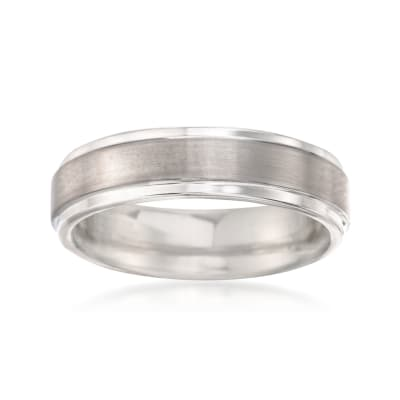Men's 6mm Tungsten Carbide Brushed Wedding Band