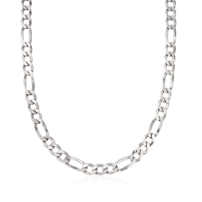 Men's 7.8mm Sterling Silver Figaro Link Necklace