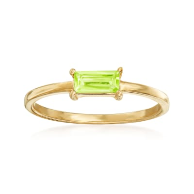 Italian .30 Carat Peridot Ring in 14kt Yellow Gold