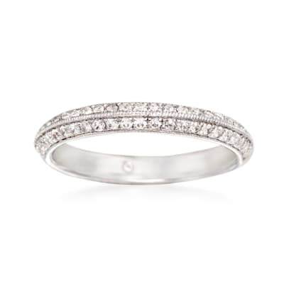 Gabriel Designs .36 ct. t.w. Diamond Wedding Ring in 14kt White Gold