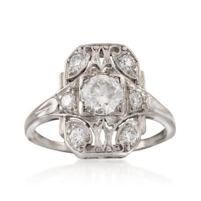C. 1990 Vintage .80 ct. t.w. Diamond Ring in Platinum