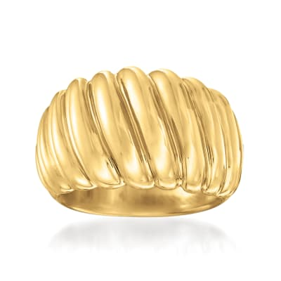 Andiamo 14kt Yellow Gold Over Resin Shrimp Ring