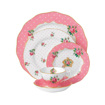 "Royal Albert ""Cheeky Pink"" 5-pc. Place Setting"