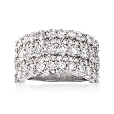 4.00 ct. t.w. Diamond Multi-Row Ring in 14kt White Gold