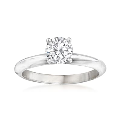 .71 Carat Certified Diamond Solitaire Engagement Ring in 14kt White Gold
