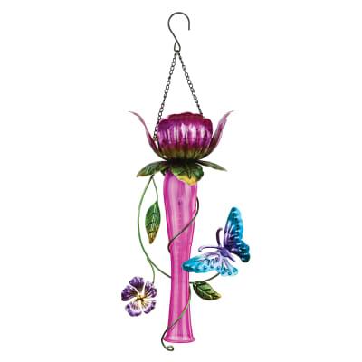 Regal Pink Tulip Solar Garden Lantern