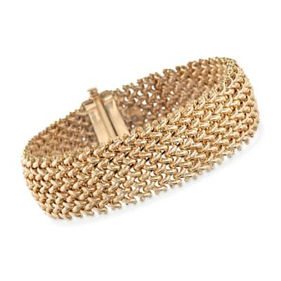 Italian 18kt Yellow Gold Riso Bracelet