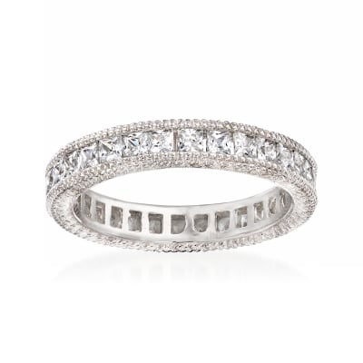 1.40 ct. t.w. CZ Eternity Band in Sterling Silver