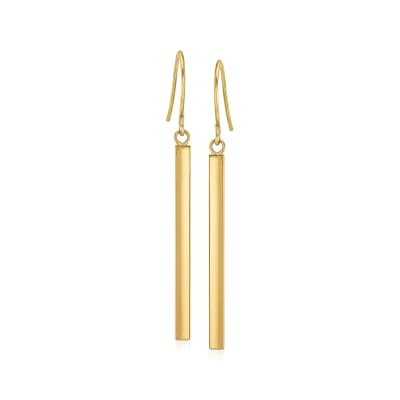14kt Yellow Gold Linear Drop Earrings