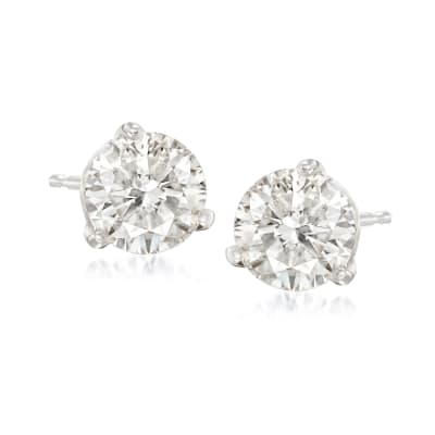 1.50 ct. t.w. Diamond Martini Stud Earrings in Platinum