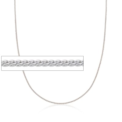 Italian 1mm Sterling Silver Adjustable Slider Wheat Chain Necklace