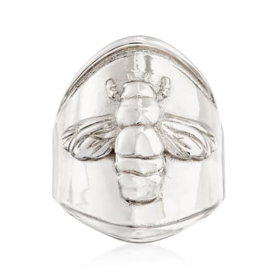 Italian Sterling Silver Bee Ring
