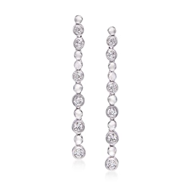 .75 ct. t.w. Diamond Linear Drop Earrings in 14kt White Gold
