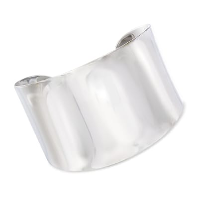 Sterling Silver Wide Polished Cuff Bracelet