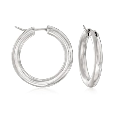 Italian Sterling Silver Hoop Earrings