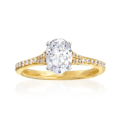 Simon G. .16 ct. t.w. Diamond Engagement Ring Setting in 18kt Yellow Gold