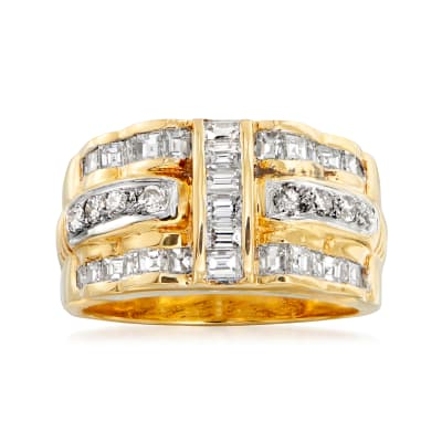 C. 2000 Vintage 1.19 ct. t.w. Diamond Band in 18kt Yellow Gold
