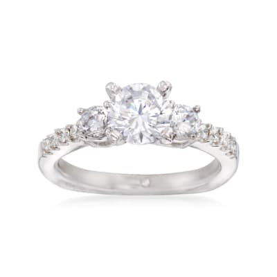 Gabriel Designs .58 ct. t.w. Diamond Engagement Ring Setting in 14kt White Gold