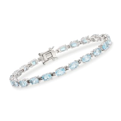 13.00 ct. t.w. Sky Blue Topaz Tennis Bracelet in Sterling Silver
