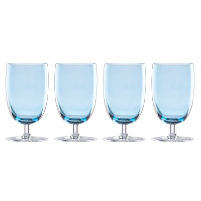 "Lenox ""Valencia"" Set of 4 Blue All-Purpose Glasses"
