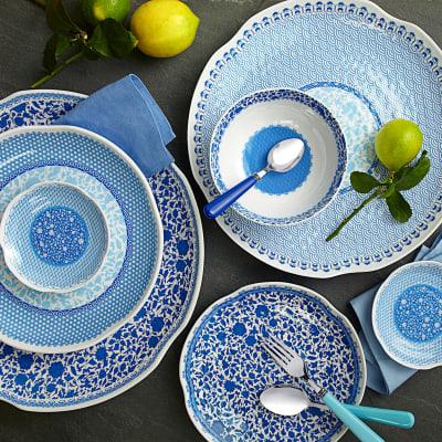 Heritage Blue Melamine Dinnerware