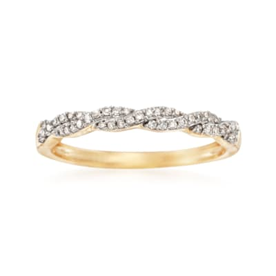 .15 ct. t.w. Diamond Braided Ring in 14kt Yellow Gold