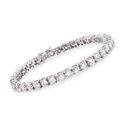 12.00 ct. t.w. CZ Tennis Bracelet in Sterling Silver