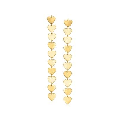 14kt Yellow Gold Heart-Link Drop Earrings