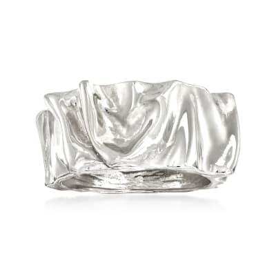 Italian Sterling Silver Crinkle Ring