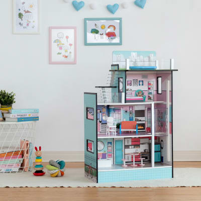 """Child's """"Dreamland"""" Barcelona White and Pink Dollhouse"""