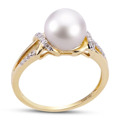 8.5-9mm Cultured Pearl Ring in 14kt Yellow Gold