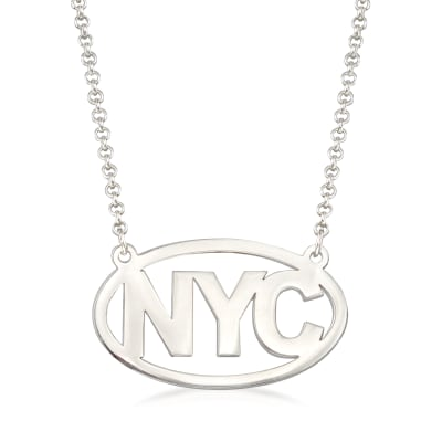Sterling Silver Personalized Destination Necklace