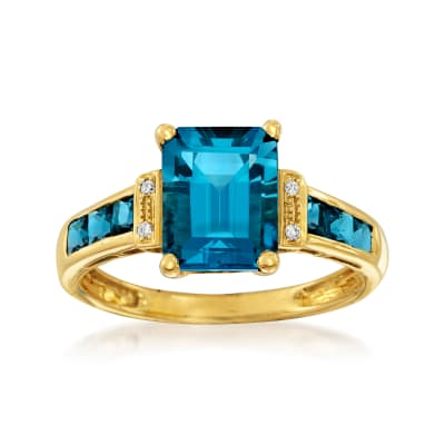 3.00 ct. t.w. London Blue Topaz Ring in 14kt Yellow Gold