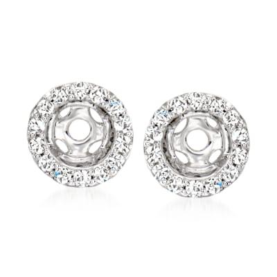 .12 ct. t.w. Diamond Earring Jackets in 14kt White Gold