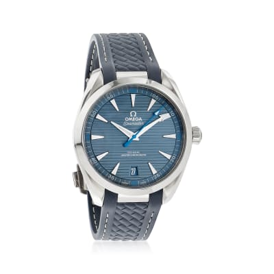 Omega Seamaster Aqua Terra Men's 41mm Stainless Steel Watch with Grey Rubber Strap