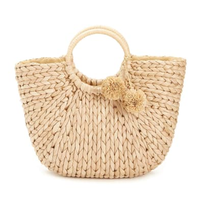 Braided Basket Tote Bag