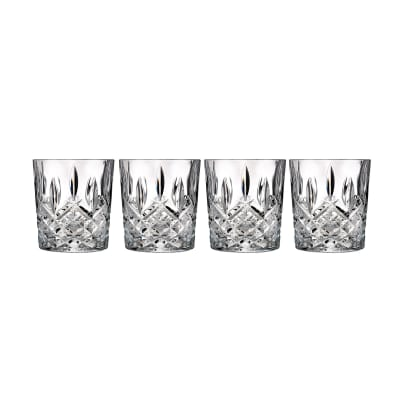 "Marquis by Waterford Crystal ""Markham"" Set of 4 Double Old Fashioned Glasses from Italy"