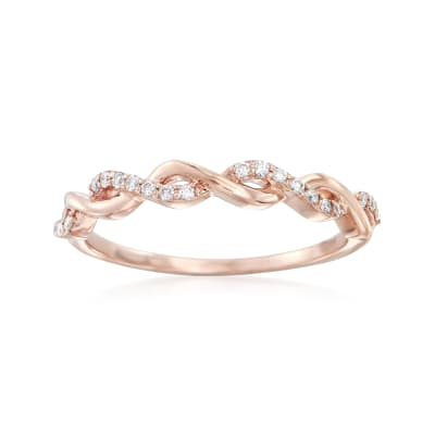 .12 ct. t.w. Diamond Twist Ring in 14kt Rose Gold