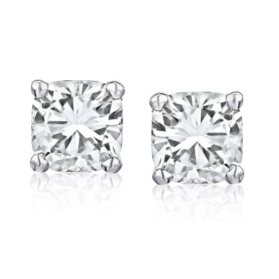 .95 ct. t.w. Certified Diamond Stud Earrings in Platinum