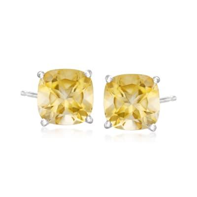 5.75 ct. t.w. Citrine Stud Earrings in Sterling Silver
