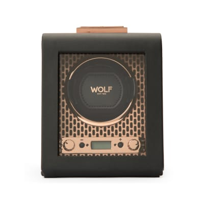 "Wolf ""Axis"" Copper-Plated Steel Single Watch Winder"